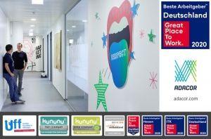 Die ADACOR Hosting GmbH aus Offenbach erzielt hervorragende Platzierungen bei Beste Arbeitgeber™ Deutschland sowie kununu